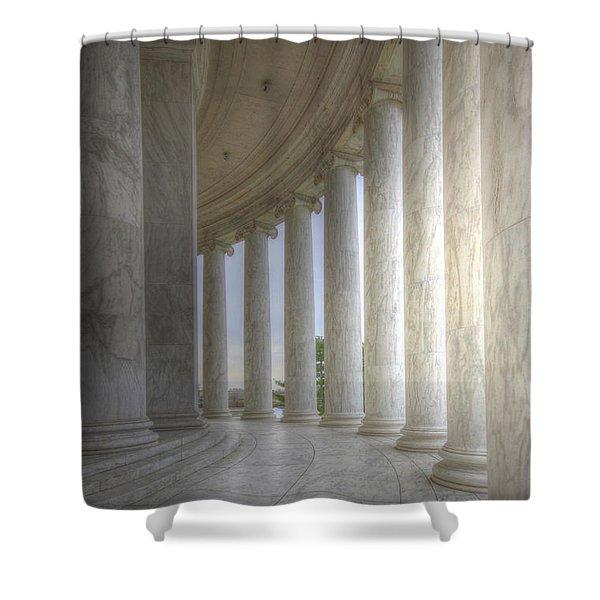 Circular Colonnade Of The Thomas Jefferson Memorial Shower Curtain