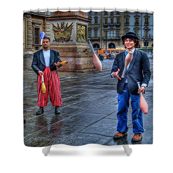 City Jugglers Shower Curtain