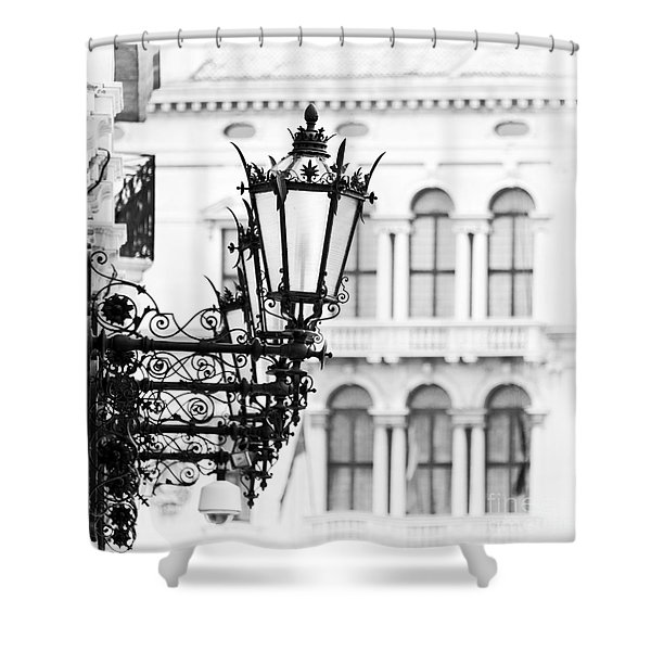 City Lights In Venice Shower Curtain