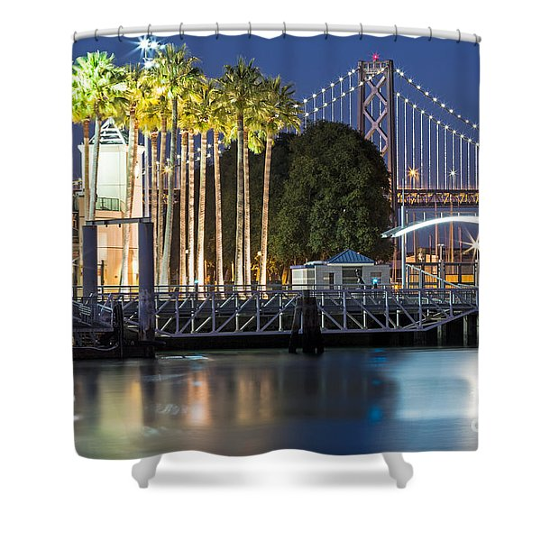 City Lights On Mission Bay Shower Curtain