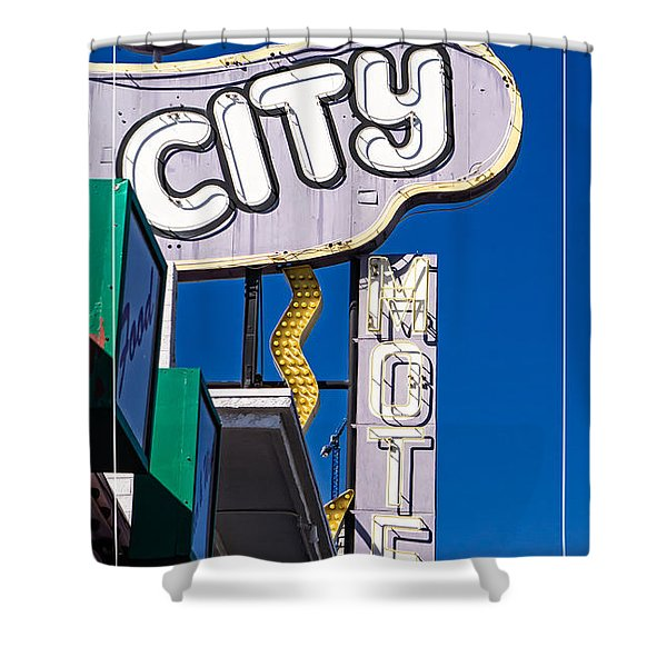 City Motel Las Vegas Shower Curtain