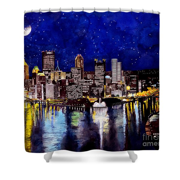 City Of Pittsburgh At The Point Shower Curtain