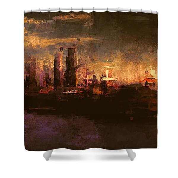 City On The Sea Shower Curtain