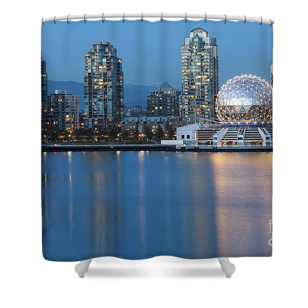 Shower Curtain featuring the photograph City Skyline -vancouver B.c. by Bryan Mullennix