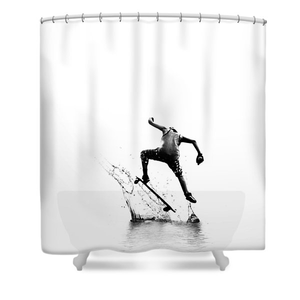 City Surfer Shower Curtain