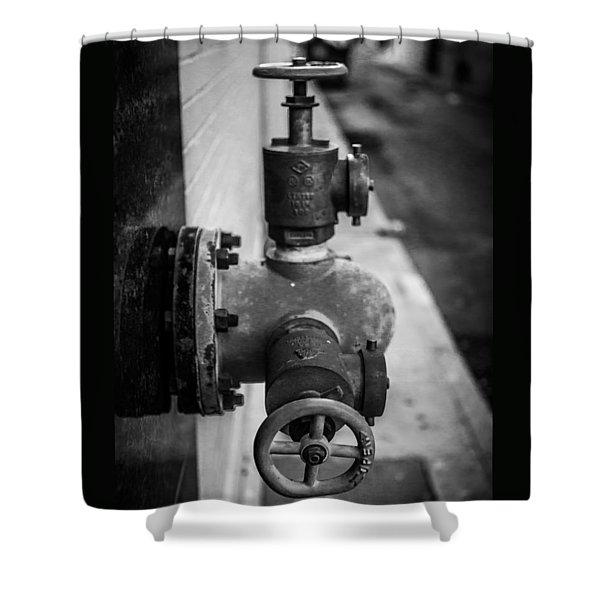City Valves Shower Curtain