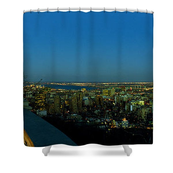 City Viewed From An Observation Point Shower Curtain