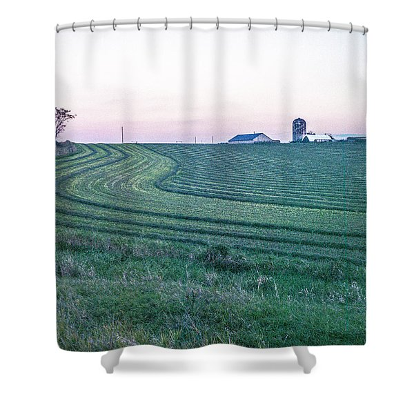 Farm Fields At Dusk Shower Curtain