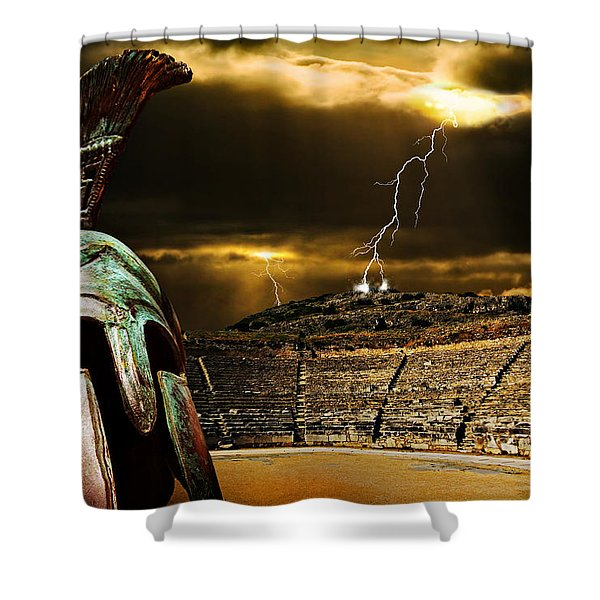 Clash Of The Titans Shower Curtain