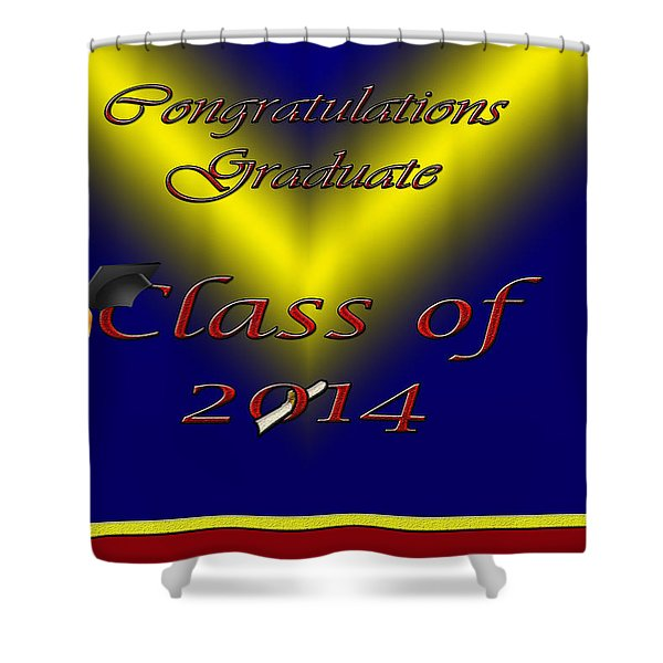 Class Of 2014 Card Shower Curtain