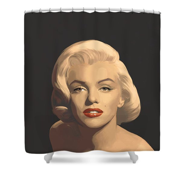 Classic Beauty In Graphic Gray Shower Curtain