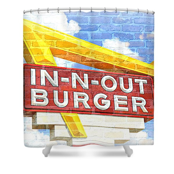 Classic Cali Burger 2.5 Shower Curtain