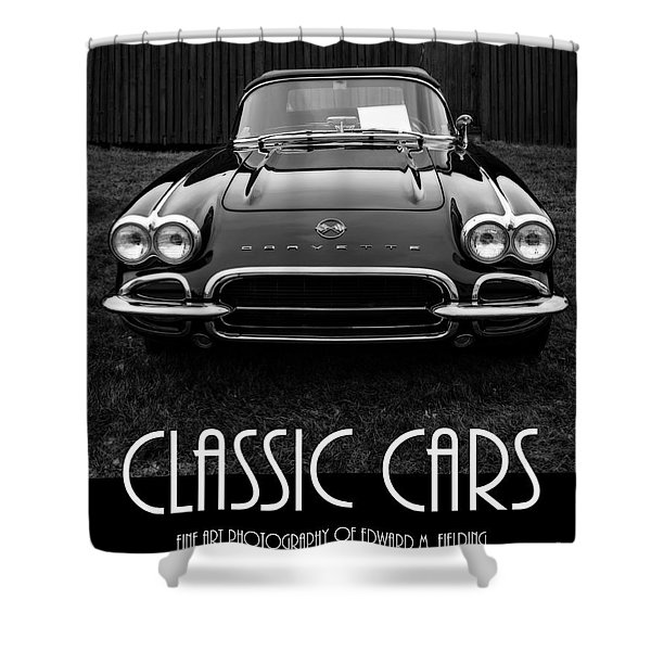 Classic Cars Front Cover Shower Curtain