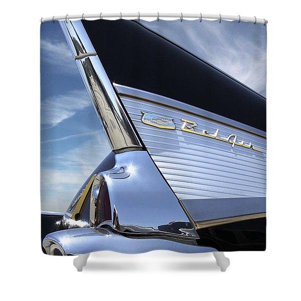 Classic Fin - 57 Chevy Belair Shower Curtain