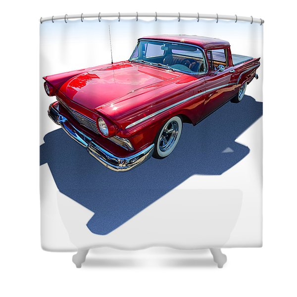 Classic Red Truck Shower Curtain