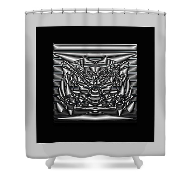Shower Curtain featuring the digital art Classic Shine - Silver by Mihaela Stancu