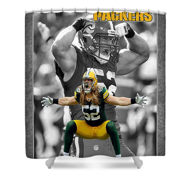 Clay Matthews Packers Shower Curtain