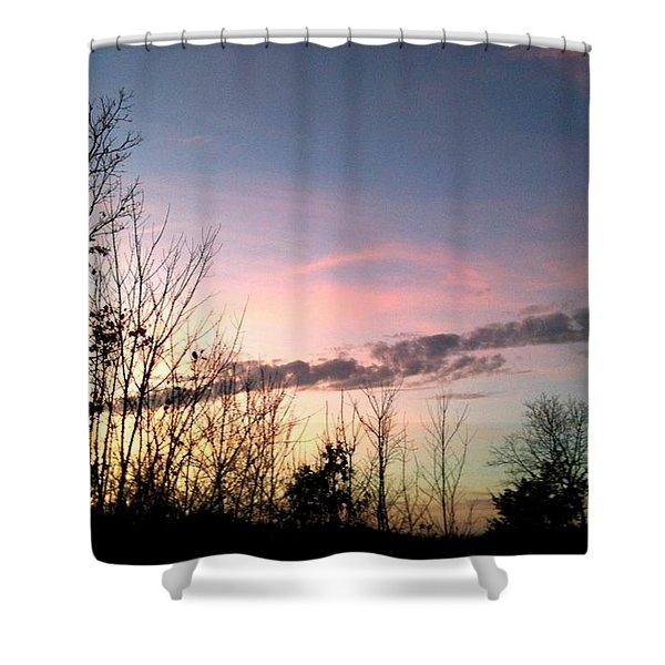 Clear Evening Sky Shower Curtain