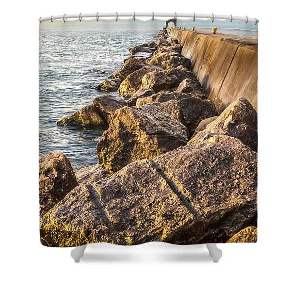 Clear Journey Shower Curtain