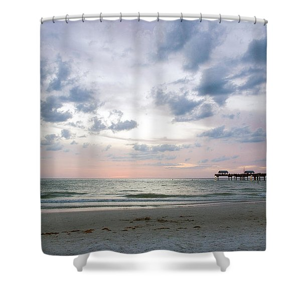 Clearwater Fishing Pier Shower Curtain