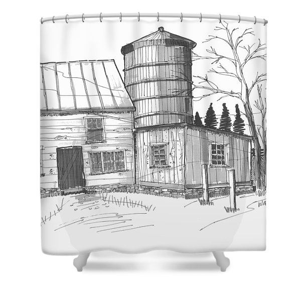 Clermont Barn 1 Shower Curtain