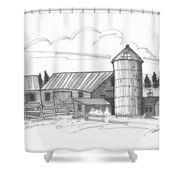 Clermont Barn 2 Shower Curtain