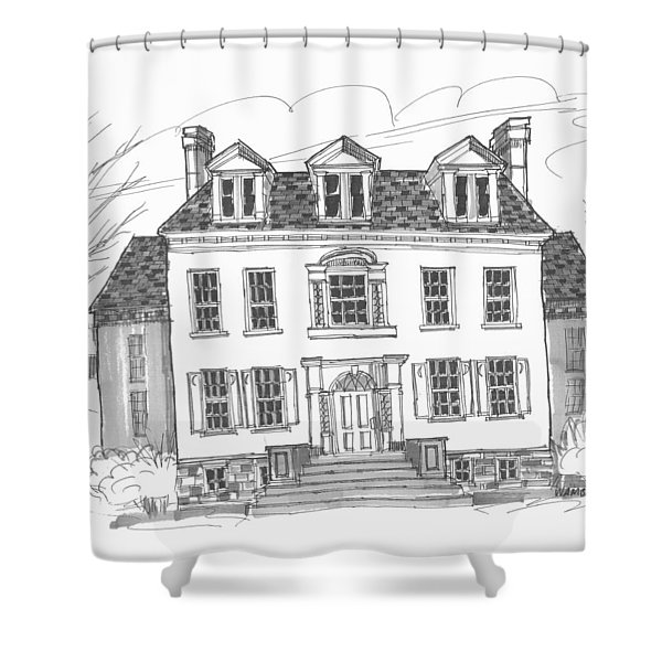 Clermont Historic Site Shower Curtain