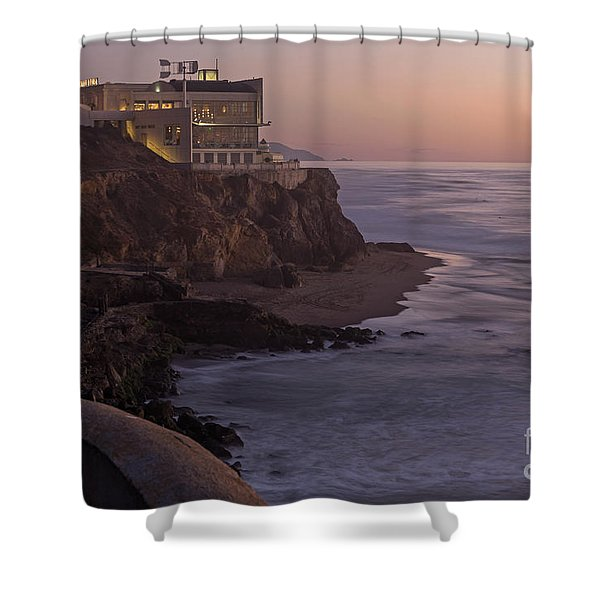 Cliff House Sunset Shower Curtain