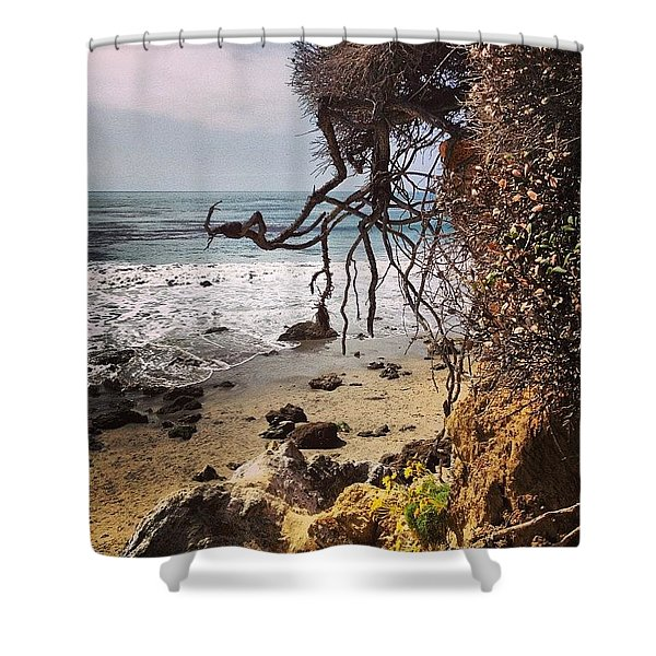Cliff Roots Shower Curtain