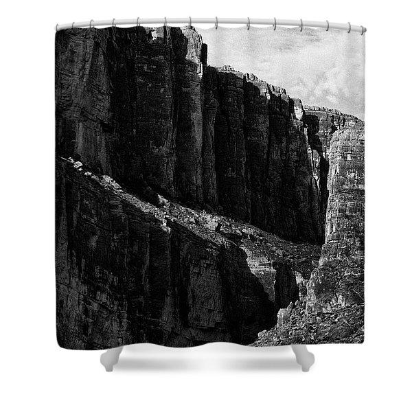 Cliffs In Contrast Shower Curtain