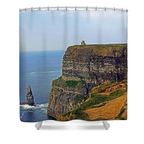 Cliffside Steeple Shower Curtain