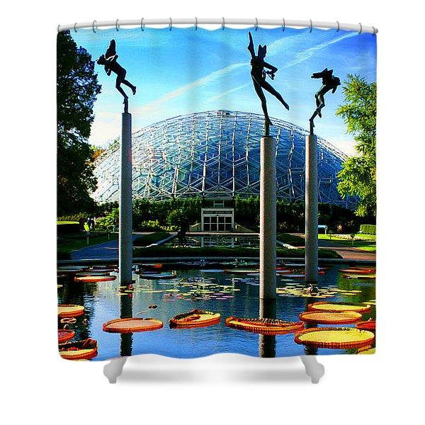 Climatron Geodesic Dome Landscape Shower Curtain