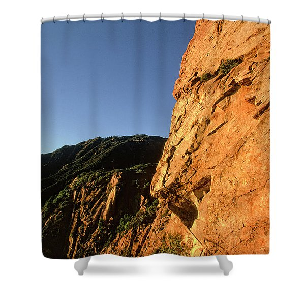 Climber Solos At Sunset Shower Curtain