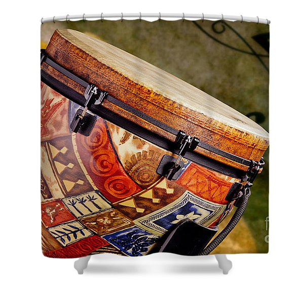 Clissic Djembe African Drum Photograph In Color 3334.02 Shower Curtain