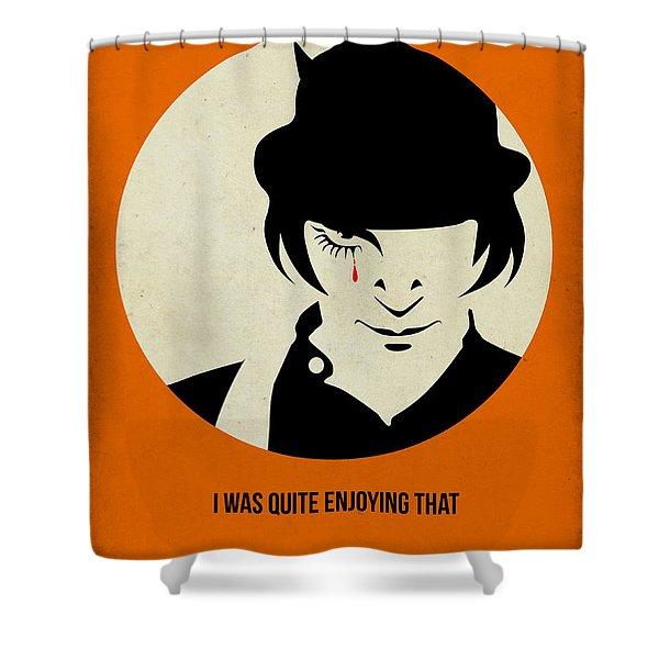 Clockwork Orange Poster Shower Curtain