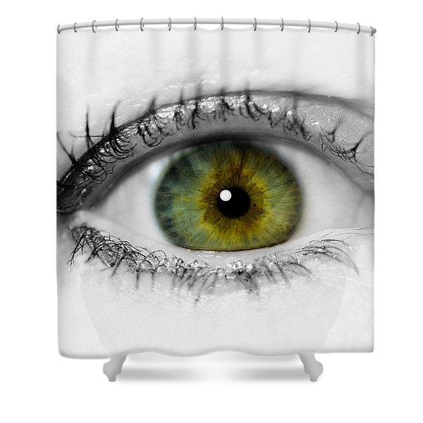 Close Up Eye Shower Curtain