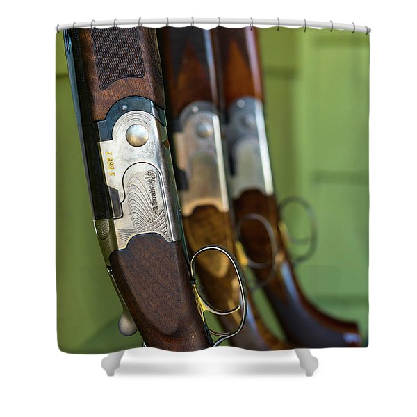 Close-up Of Beretta Shotguns Shower Curtain