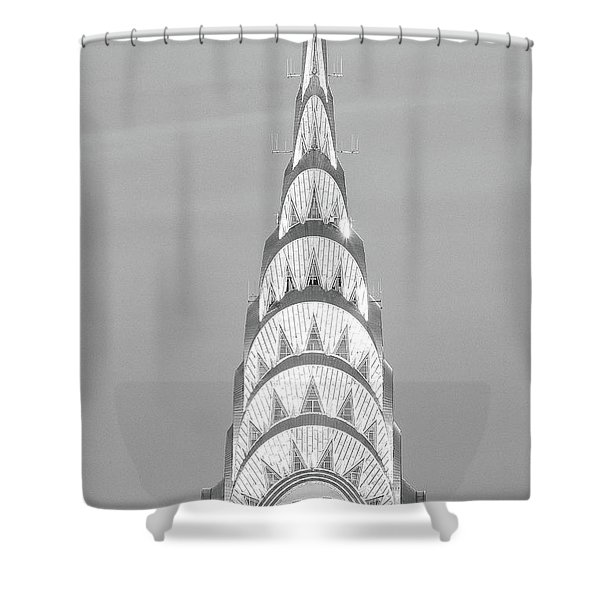 Close Up Of The Chrysler Building Shower Curtain