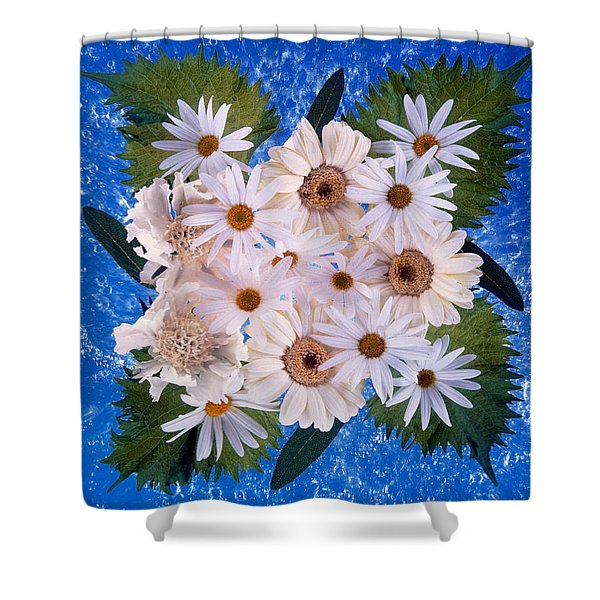 Close Up Of White Daisy Bouquet Shower Curtain