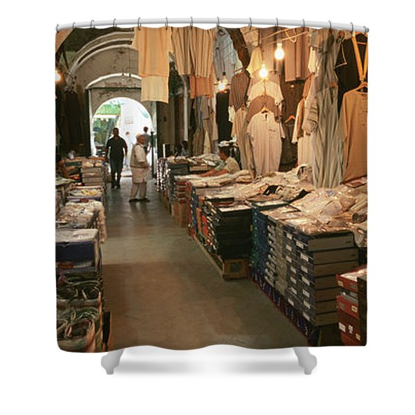 Clothing Stores In A Market, Souk Shower Curtain