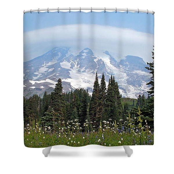 Cloud Capped Rainier Shower Curtain
