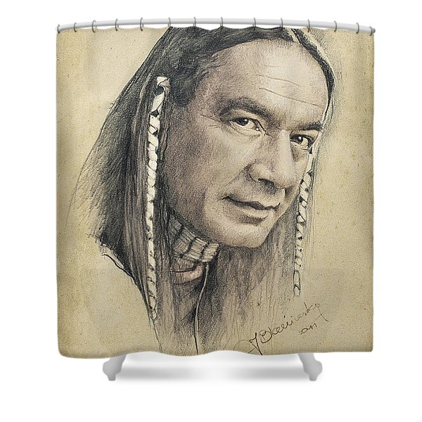 Shower Curtain featuring the drawing Cloud Dancing by Jaroslaw Blaminsky