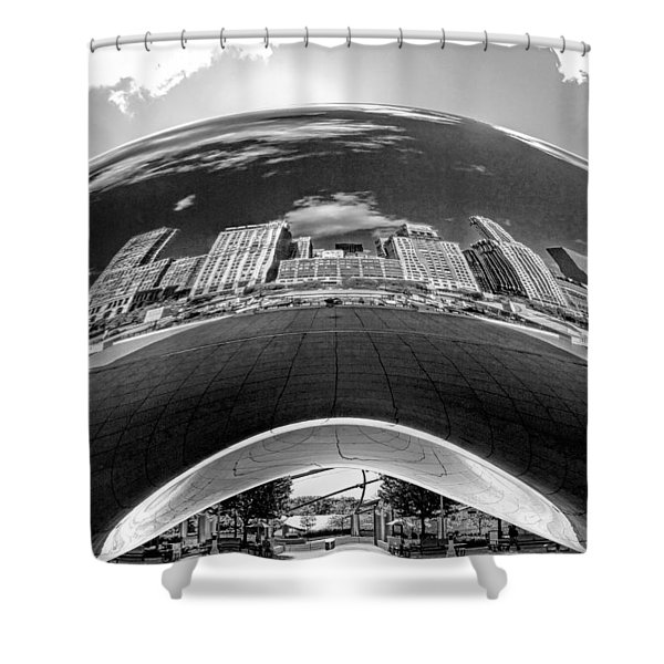 Cloud Gate Under The Bean Black And White Shower Curtain