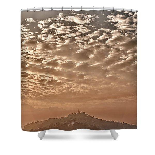 Cloud Over Kathmandu Shower Curtain