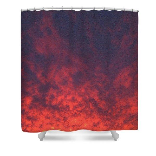 Clouds Ablaze Shower Curtain