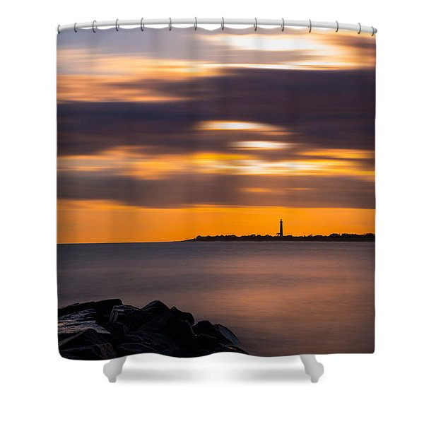 Clouds In Motion At Cape May  Shower Curtain