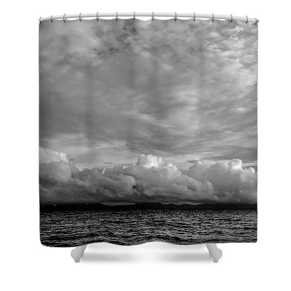 Clouds Over Alabat Island Shower Curtain