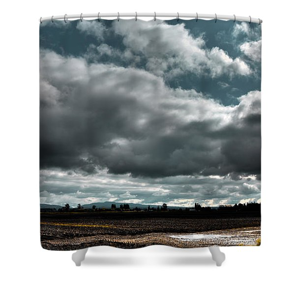 Clouds Over Mount Vernon Washington Shower Curtain