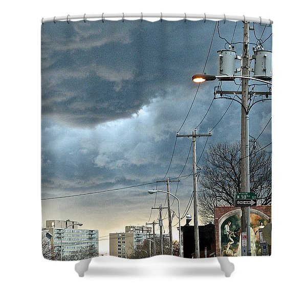 Clouds Over Philadelphia Shower Curtain