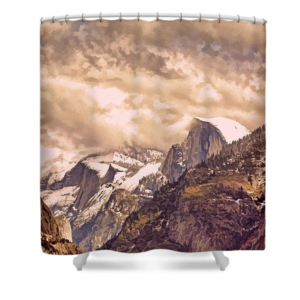 Clouds Over The Valley Shower Curtain